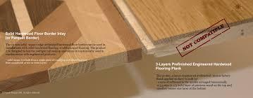 3 Layers Prefinished Engineered Hardwood Flooring Plank Vs Solid Border Inlays 6