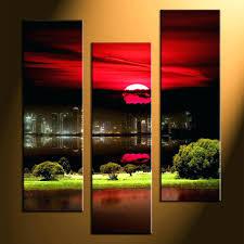 3 Piece Framed Wall Art Life Glass Inspirational Cheap Large
