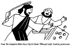 Jesus Cleansing The Temple Coloring Page Apple Cinnamon Colon