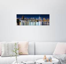 posterlounge wandbild new york city skyline bei nacht panorama kaufen otto