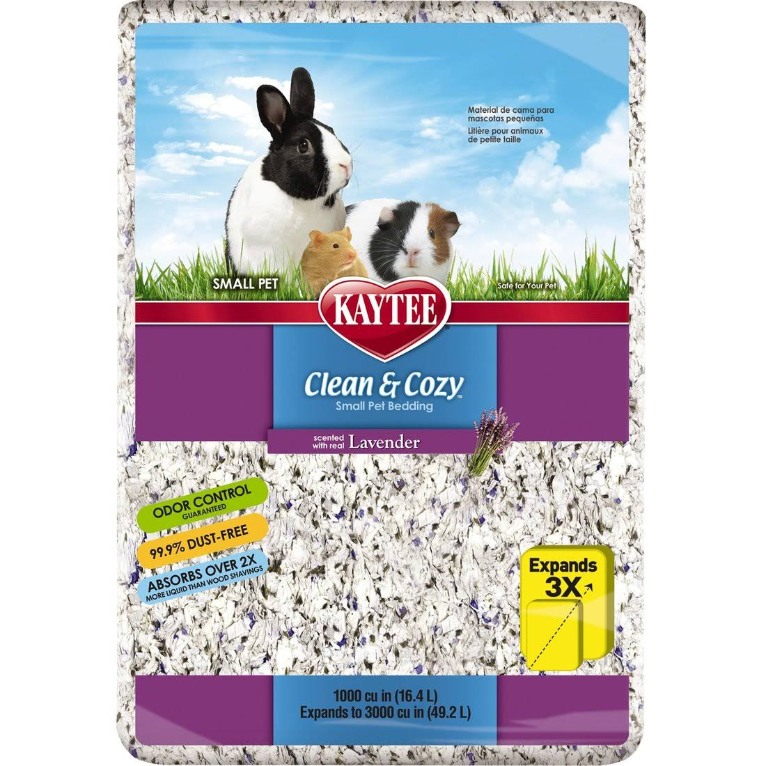 Kaytee Clean And Cozy Bedding - Lavender, 1000 cu in