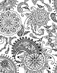 Full Image For Paisley Designs Coloring Book Page World Flower Pattern Portrait Free Printable
