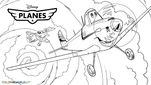 Awesome Printable Disney Planes Cartoon Coloring Pages For Kids