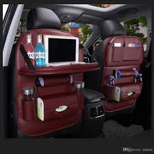 100 Car Seat In Truck Pu Leather Pad Bag Back Organizer Foldable Table Tray Travel Storage Bag Foldable Dining Table Storage Bag Travel