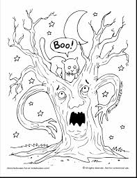 Scary Halloween Coloring Pages To Print by Great Spooky Ghost Coloring Pages Printable With Scary Coloring