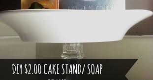 repurpose candle holder to cake stand soap stand hometalk