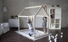 chambre enfant cabane diy bricolage fabriquer lit cabane bois massif chambre enfant