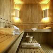 Wooden Spa Room Design Ideas In F1 City Center Apartment