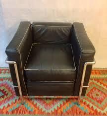 le corbusier lc2 stil lounge arm club schwarzes leder mcm dänischen stuhl