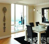 How To Decorate A Console Table Dining Room Contemporary With Wood Floor Black White Rugs