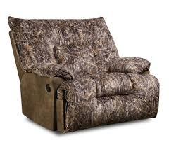 Camo Living Room Ideas by Furniture Interesting Gray Cuddler Recliner Next To Wooden