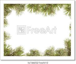 Free Art Print Of Border Frame From Christmas Tree Branches