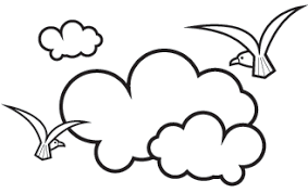 Sky clipart black and white Pencil and in color sky clipart