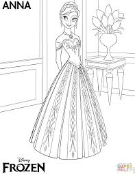 Anna Coloring Pages Frozen Page Free Printable To Download