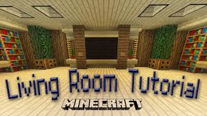 minecraft how to make an awesome living room design youtube