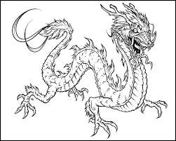 Dragon Coloring Pages Throughout Elaborate