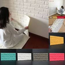 Image Is Loading 100Pcs 3D Foam Stone Brick Self Adhesive Wallpaper