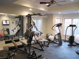Home Gym Decorating Pictures. Possible By Keeping The Space Simple ... Basement Gym Ideas Home Interior Decor Design Unfinished Gyms Mediterrean Medium Best 25 Room Ideas On Pinterest Gym 10 That Will Inspire You To Sweat Window And Big Amazing Modern Center For Basement Gallery Collection In Flooring With Classic How Have A Haven Heartwork Organizing Tips Clever Uk S Also Affordable