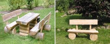 handmade garden benches adding rustic vibe to backyard designs