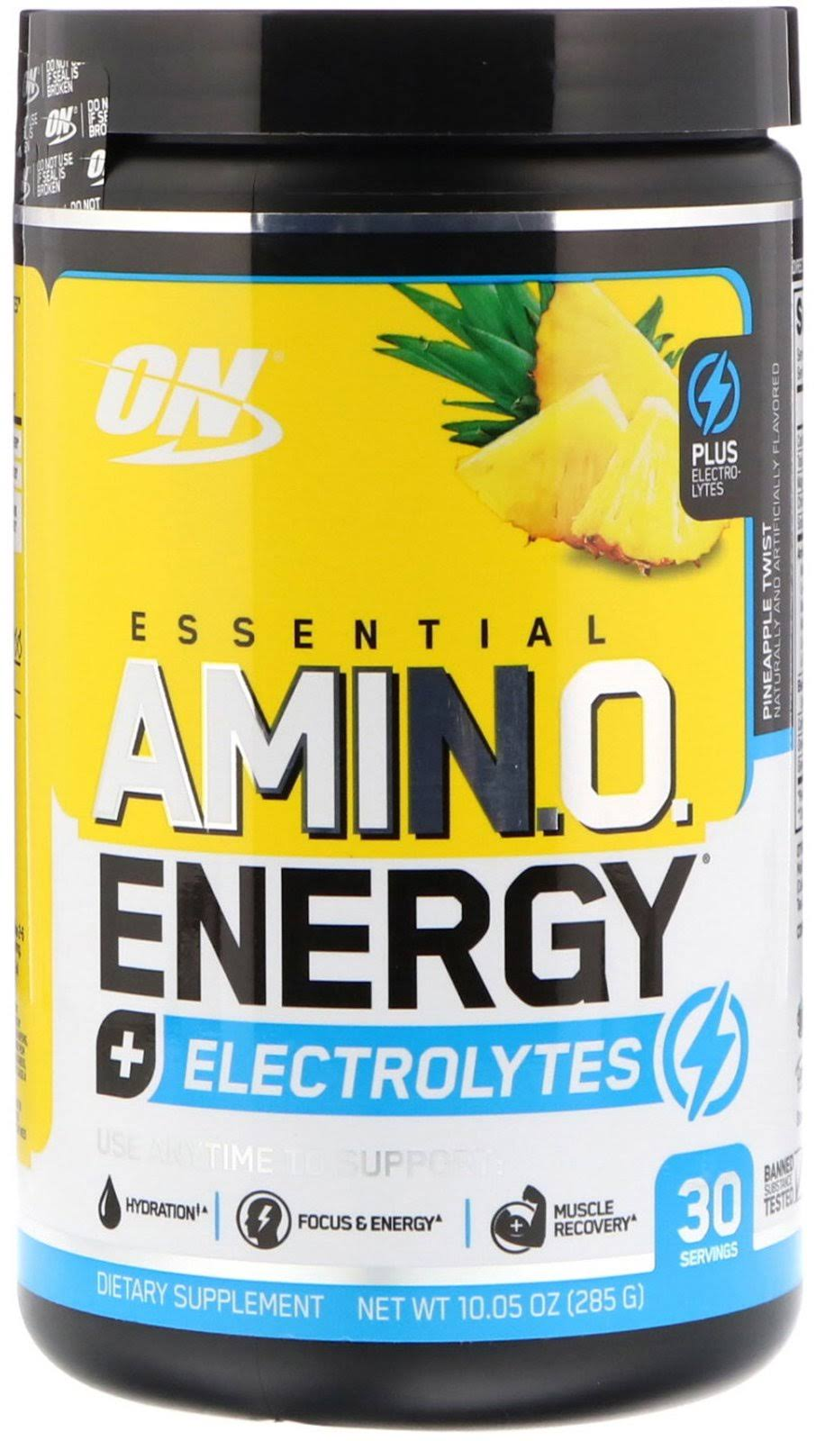 Optimum Nutrition Essential Amino Energy + Electrolytes, Pineapple Twist / 30 Servings