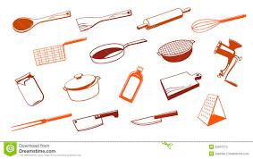noms d ustensiles de cuisine outil d ustensile de cuisine illustration de vecteur