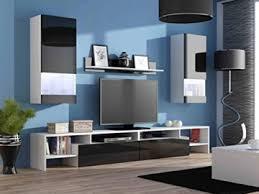 wohnwand komplett ego hochglanz wohnzimmer tv wand farbe hochglanz schwarz weiß