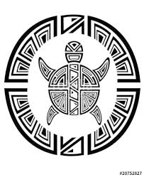 Double Tribal TurtleTattoo Style Stock Image And Royalty Free Vector Files On Fotolia