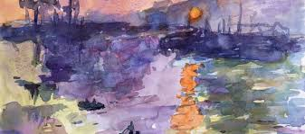 Turning A Famous Painting Feat Claude Monet Into Watercolor Study
