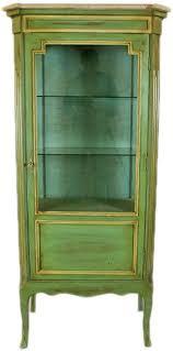 casa padrino barock vitrine antik stil grün gold 160 cm