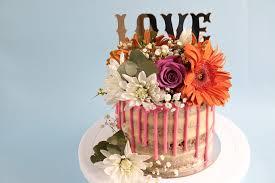 Naked Rustic Garden Flower Cake Tutorial Rosies Dessert Spot