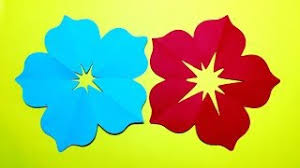 How To Make 5 Petal Hand Cut Paper Flowers