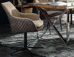 lebensart rockfort drehstuhl in stoff braun grau