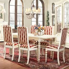essgruppe ausziehbarer esstisch 6 stühle weiß mit goldener patina