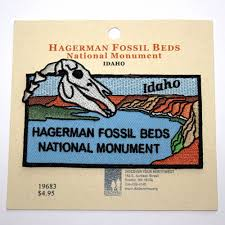 official hagerman fossil beds national monument souvenir patch