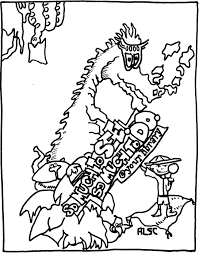 Download Dragon Line Art Coloring Page