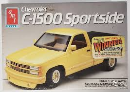 Model Kit Truck Amt#6082 ERTL Chevrolet C-1500 Sportside 1/25 Skill ...