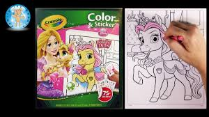 Crayola Color And Sticker Palace Pets Coloring Book Bella Rapunzel Horse