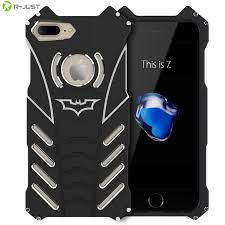 R JUST BATMAN Series Luxury Doom Heavy Duty Armor Metal Aluminum Mobile Phone Cases For apple iPhone 7 5 5S SE 5C 6 6S PLUS Bags in Phone Bumper from