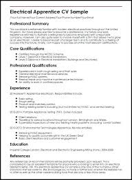 Resume For Electrical Technician Apprentice Sample Maintenance