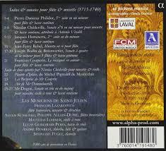le berger poète suites sonates pour flûte musette françois