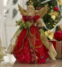 16 Christmas Angel Tree Topper In Burgundy Window Lights Tops