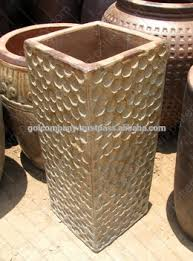 Wholesale Tall Square Rustic Copper Pots