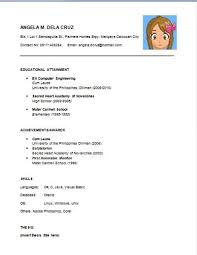 Simple Resume Sample For Fresh Graduate Chic