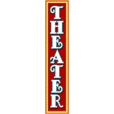 Tall Theater Marquee Wall Decal Retro Home Theater Home Decor