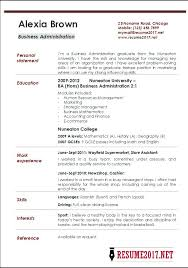 Resume Sample For Business Administration Graduate Health Examples Top 8 Operations