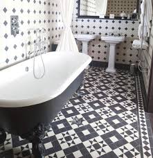 amazing of black and white bathroom tile ideas black and white