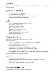 Resume For Cashier Position With No Experience Template Example Of All Pics Head Resumes