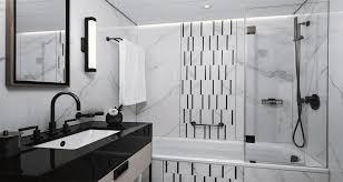moderne badgestaltung schwarz weiss ist immer trend