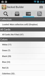magic the gathering deck builder android app