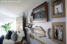 Unique Gallery Wallpart Of A Rustic Nautical Master Bedroom Makeover Via Thinkingcloset